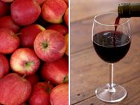 Яблука з червоним вином