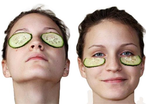 маска для глаз из огурцов от зуда в глазах