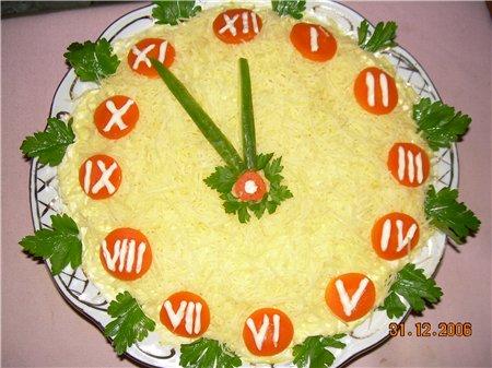 Прикраса салатів під Новий Рік